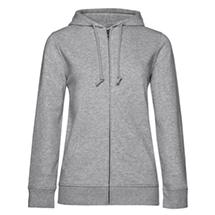 B&C 23342 Organic Zipped Hooded /women