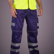 YOKO High Visibility Cargo Trousers with Knee Pad Pockets YK018T