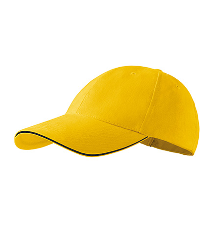 Sandwich 6P čepice unisex žlutá