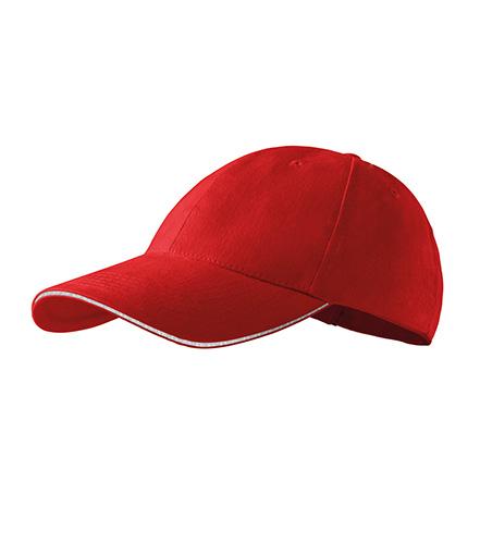 Sandwich 6P čepice unisex červená