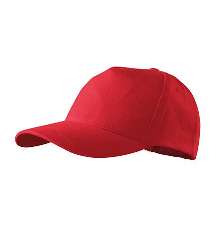 5P čepice unisex červená