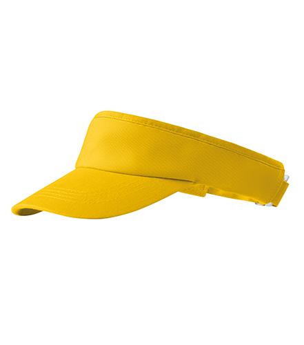Sunvisor kšilt unisex žlutá