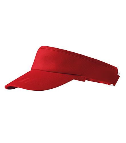 Sunvisor kšilt unisex červená