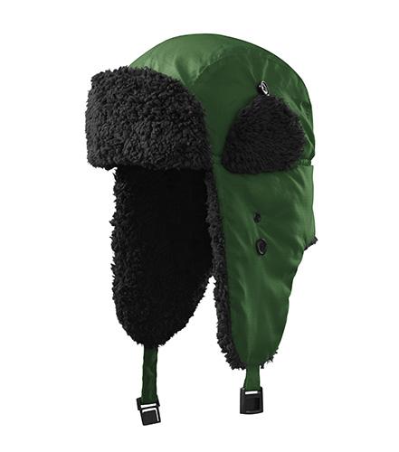 Furry čepice unisex lahvově zelená