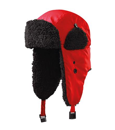 Furry čepice unisex červená