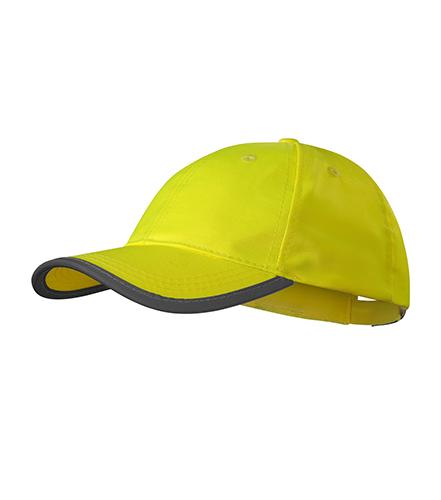 HV Reflex čepice unisex fluorescenční žlutá