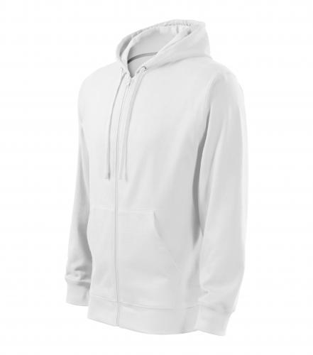 Trendy Zipper mikina pánská bílá