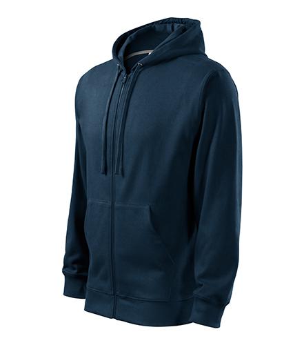 Trendy Zipper mikina pánská námořní modrá