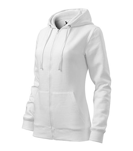 Trendy Zipper mikina dámská bílá