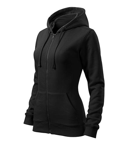 Trendy Zipper mikina dámská černá