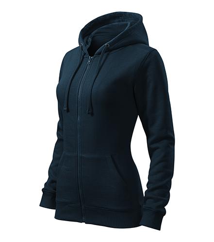 Trendy Zipper mikina dámská námořní modrá