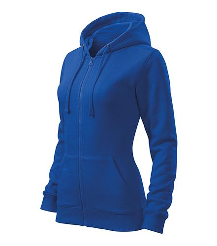 Trendy Zipper mikina dámská královská modrá