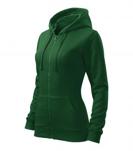 Trendy Zipper mikina dámská lahvově zelená