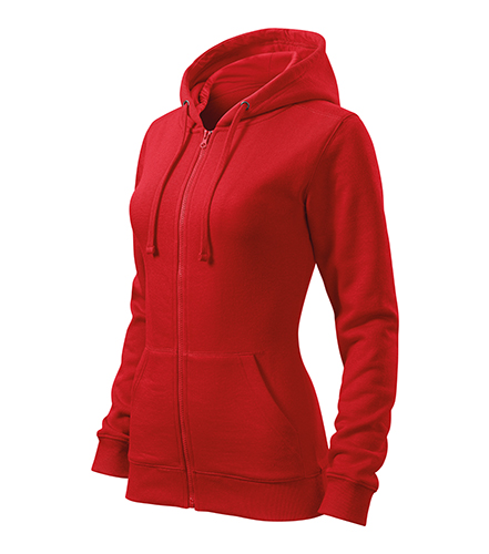 Trendy Zipper mikina dámská červená