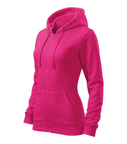 Trendy Zipper mikina dámská purpurová