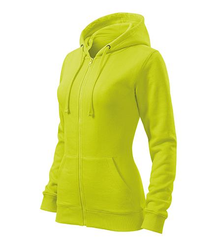 Trendy Zipper mikina dámská limetková
