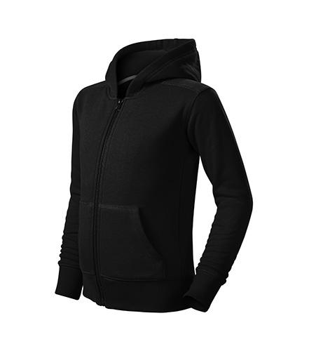 Trendy Zipper mikina dětská černá