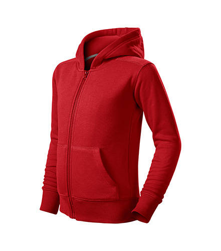 Trendy Zipper mikina dětská červená