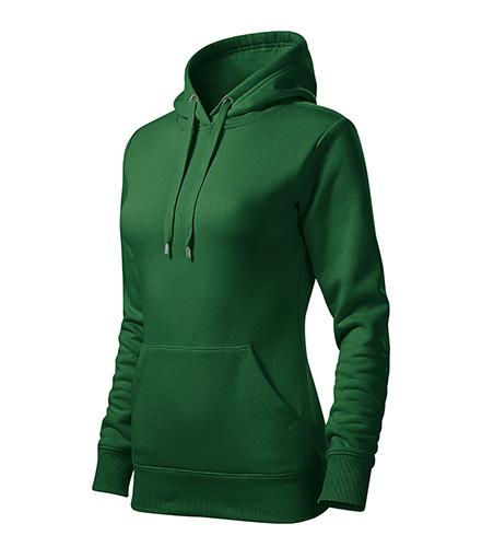 Cape mikina dámská lahvově zelená
