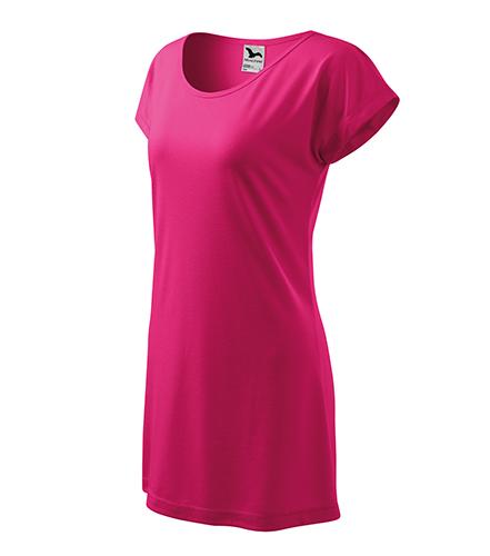 Love tričko/šaty dámské purpurová