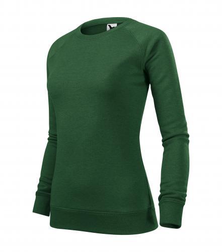 Merger mikina dámská lahvově zelený melír