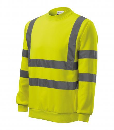 HV Essential mikina unisex fluorescenční žlutá