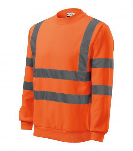 HV Essential mikina unisex fluorescenční oranžová