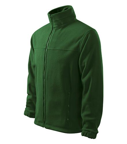 Jacket fleece pánský lahvově zelená