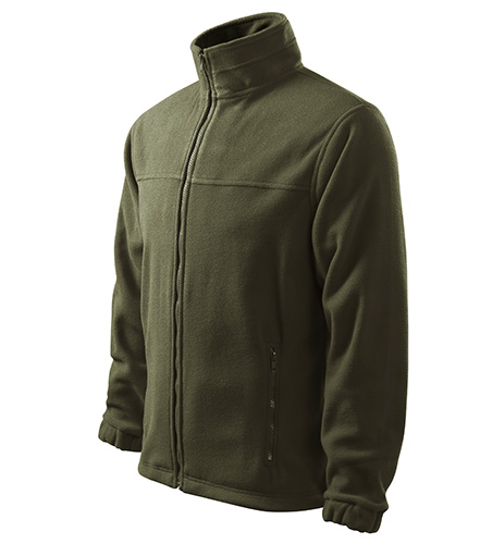 Jacket fleece pánský military