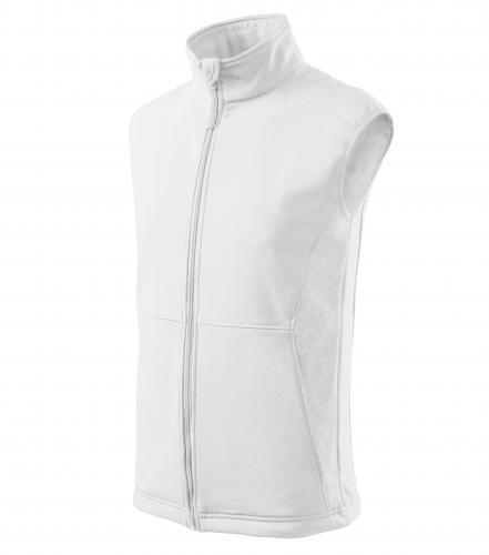 Vision softshellová vesta pánská bílá