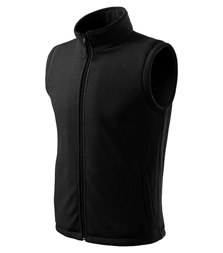 Next fleece vesta unisex černá