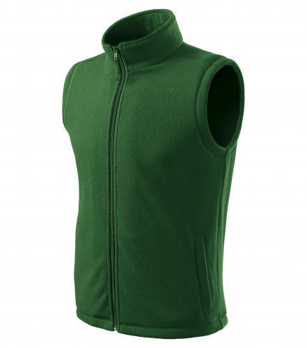 Next fleece vesta unisex lahvově zelená