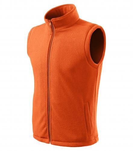 Next fleece vesta unisex oranžová
