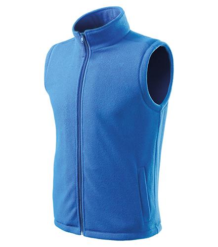 Next fleece vesta unisex azurově modrá