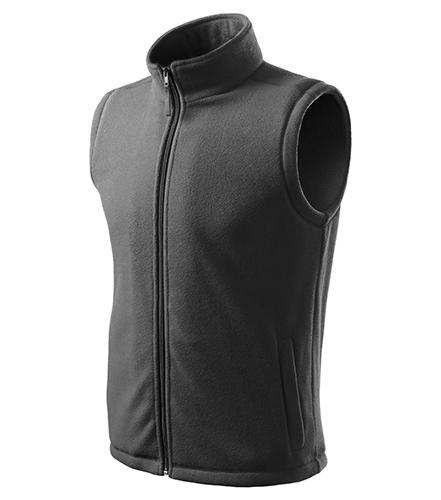 Next fleece vesta unisex ocelově šedá