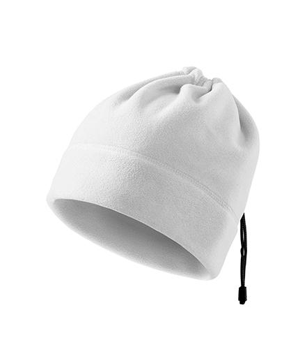 Practic fleece čepice unisex bílá