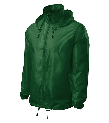 Windy větrovka unisex lahvově zelená