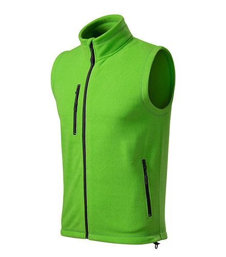 Exit fleece vesta unisex apple green