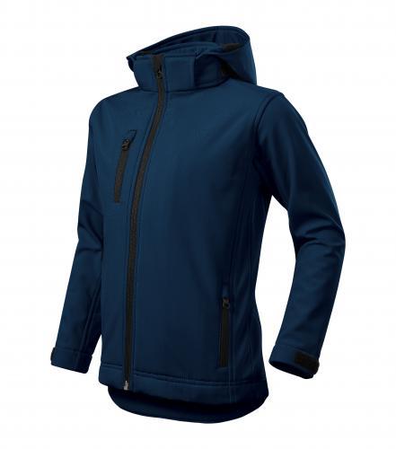 Performance softshellová bunda dětská námořní modrá