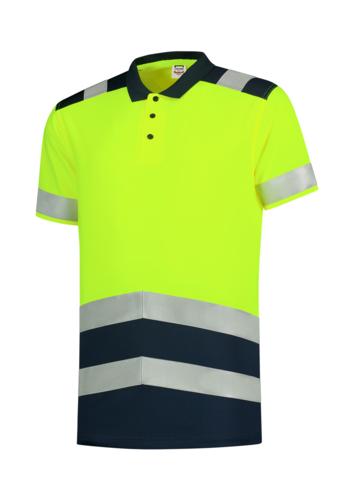 Poloshirt High Vis Bicolor polokošile unisex fluorescenční žlutá