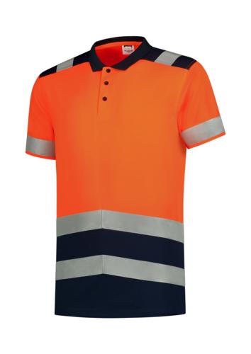 Poloshirt High Vis Bicolor polokošile unisex fluorescenční oranžová