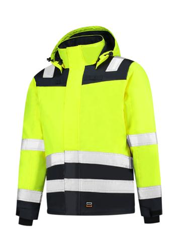 Midi Parka High Vis Bicolor pracovní bunda unisex fluorescenční žlutá