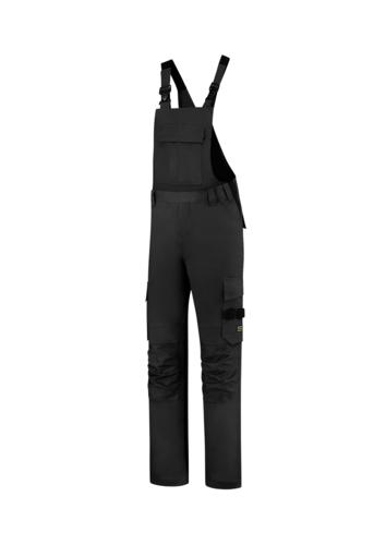 Bib & Brace Twill Cordura pracovní kalhoty s laclem unisex černá
