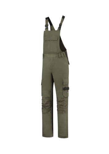 Bib & Brace Twill Cordura pracovní kalhoty s laclem unisex army