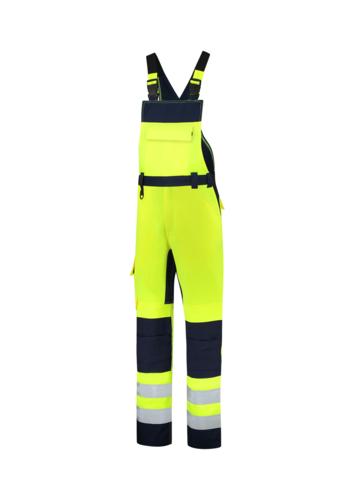 Bib & Brace High Vis Bicolor pracovní kalhoty s laclem unisex fluorescenční žlutá