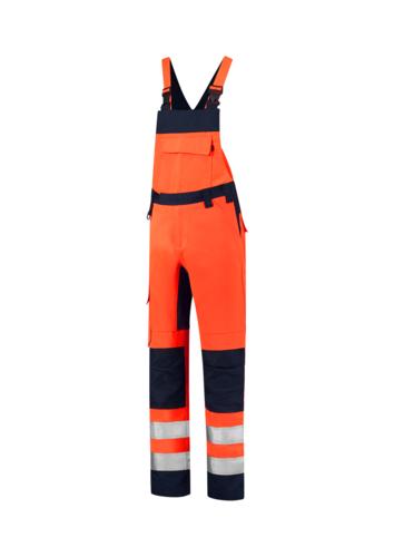 Bib & Brace High Vis Bicolor pracovní kalhoty s laclem unisex fluorescenční oranžová