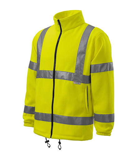 HV Fleece Jacket fleece unisex fluorescenční žlutá