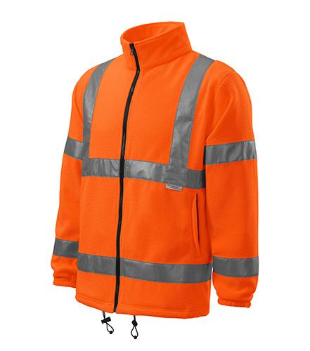 HV Fleece Jacket fleece unisex fluorescenční oranžová