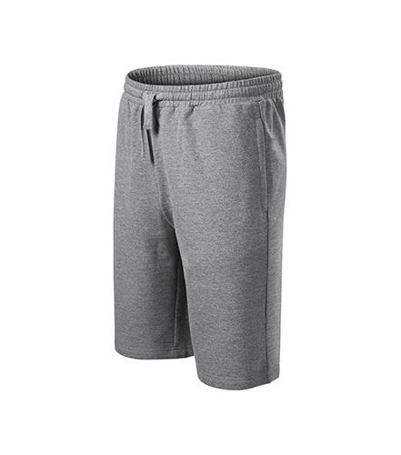 Comfy šortky pánské tmavě šedý melír