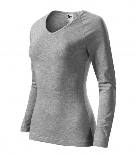 Elegance triko dámské tmavě šedý melír